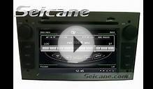 2006-2012 OPEL Antara Stereo Removal Upgrade to GPS DVD